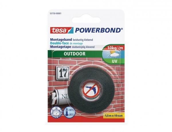 Powerbond Outdoor   Doppelseitiges Montageklebeband   19 mm x 1,5 mm